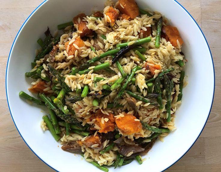 Asparagus & Butternut Orzo Salad