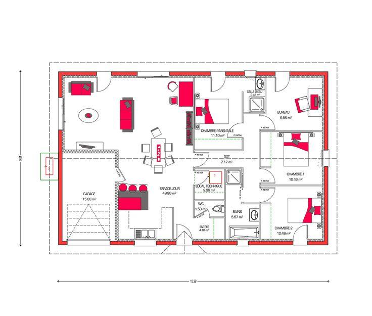 Couleurs Villa vous propose la Villa Rosa, moderne, contemporaine cette maison est idéale pour des familles. Le modèle est disponible en 3 versions.