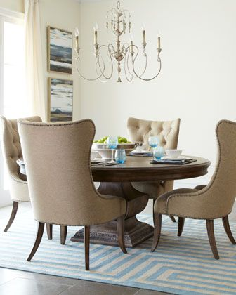 17 best images about round dinning table on pinterest for B q dining room furniture