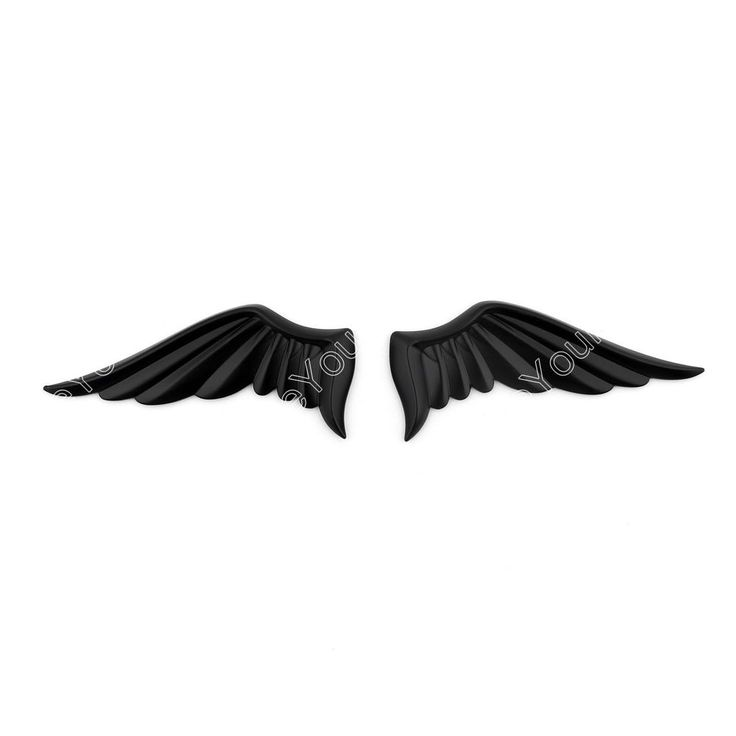 New 3D Alloy Metal Angel Wings Design Car Emblem Badge Decal Logo Sticker Black #Areyourshop