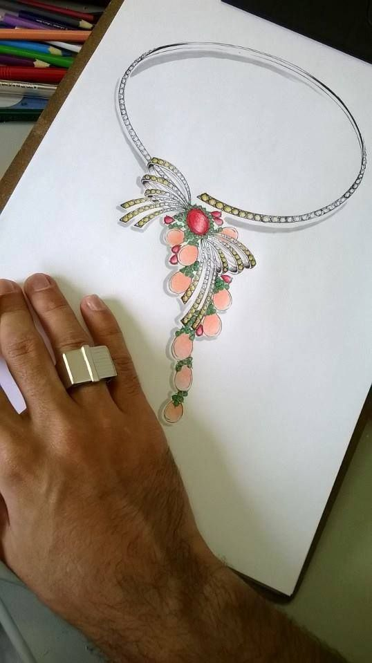 Necklace sketch...♡