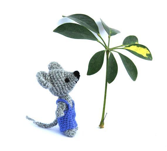 little mouse doll small amigurumi mouse by tinyworldbycrochAndi, $18.76