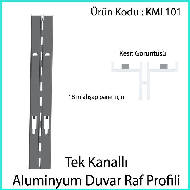 tek slotlu duvar rayı KML101