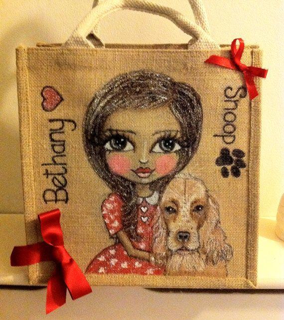 Personalised Jute Dolly Bag Custom Designed For by BelleArtisanUK