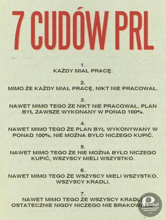 "7 cudów PRL. A Wy, co byście dodali?  ""7 miracles of Communist-era Poland"""