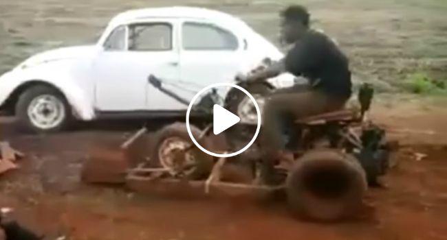 Homem Criativo e Habilidoso Inventa a Mais Original Bulldozer