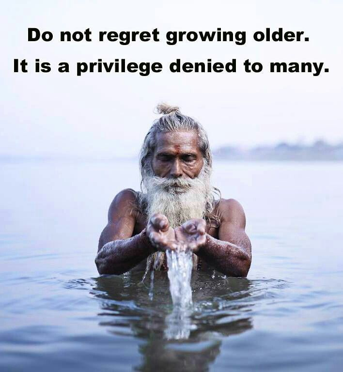 Growing older is...