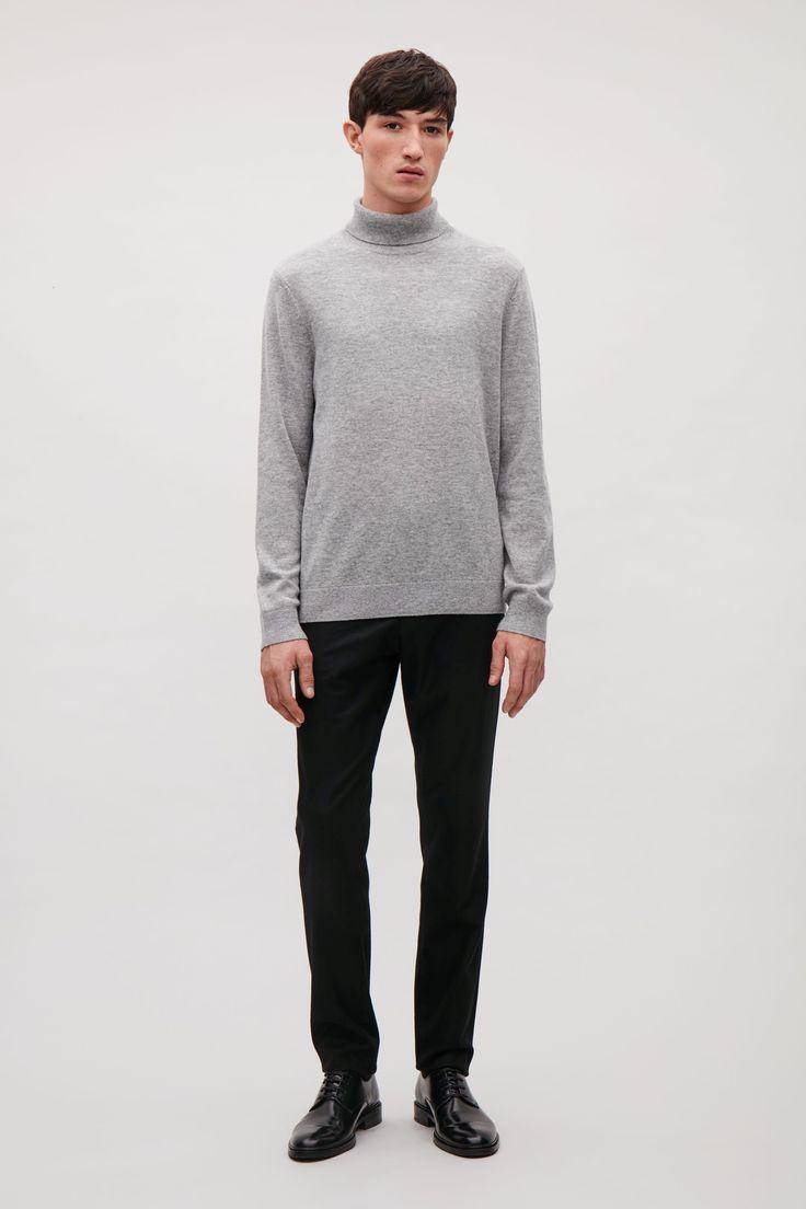 COS - Wool and yak roll-neck jumper  in Grey, taglia M // 79€