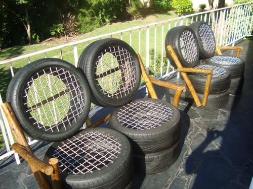 car tyre garden furniture free delivery full set