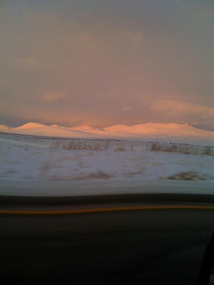 Snow near Elko