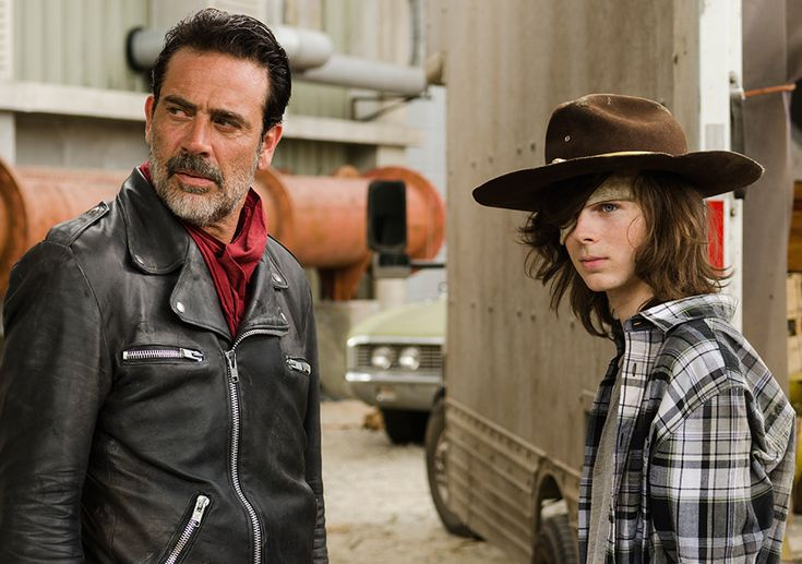 The Walking Dead Season 7 Episode 7 'Sing Me a Song' Carl Grimes and Negan