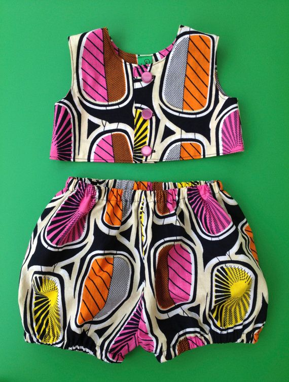 24 month old, toddler baby girls top and pants, African print,cotton bloomers,playsuit on Etsy, $43.01