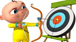 Zool Babies Playing Archery | Cartoon Animation For Children | Five Little Babies Series - YouTube