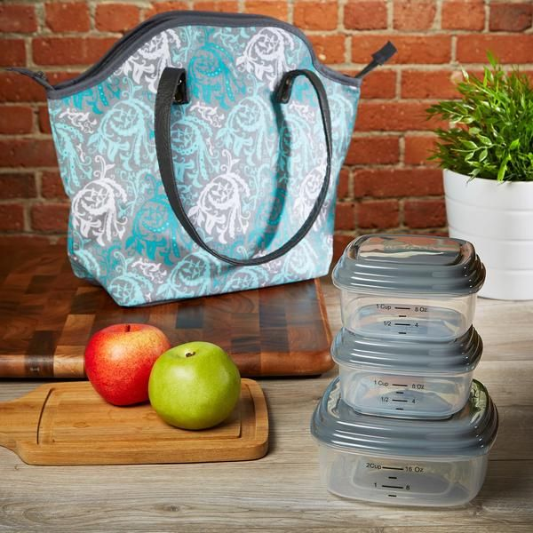 Davenport Insulated Lunch Bag Set with Reusable Containers