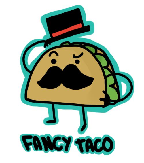 Fancy taco cartoon