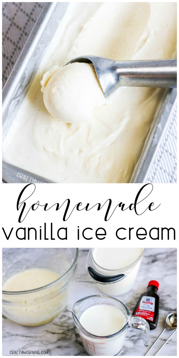 Homemade Vanilla Ice Cream Recipe Using An Ice Cream Maker Summer Ice Cream Make At Home Vanilla Ice In 2020 Ice Cream Ingredients Ice Cream Recipes Best Vanilla Ice Cream