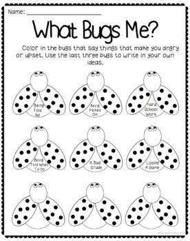 What Bugs Me - Anger Management Worksheet   Work   Pinterest   Anger ...