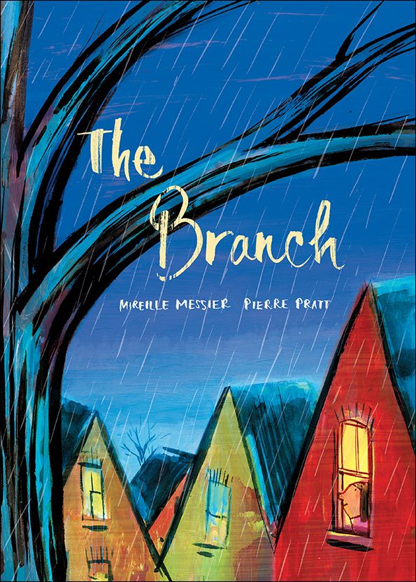 """The Branch, by Mireille Messier (Illustrations by Pierre Pratt) When an ice storm snaps a small girl's favorite branch from the tree in her yard, she's crestfallen. The girl's mom says it's just a branch. But not to her! """"That was the branch I sat on, jumped from, played under. It was my castle, my spy base, my ship . . ."""" Luckily, her neighbor Mr. Frank understands."""