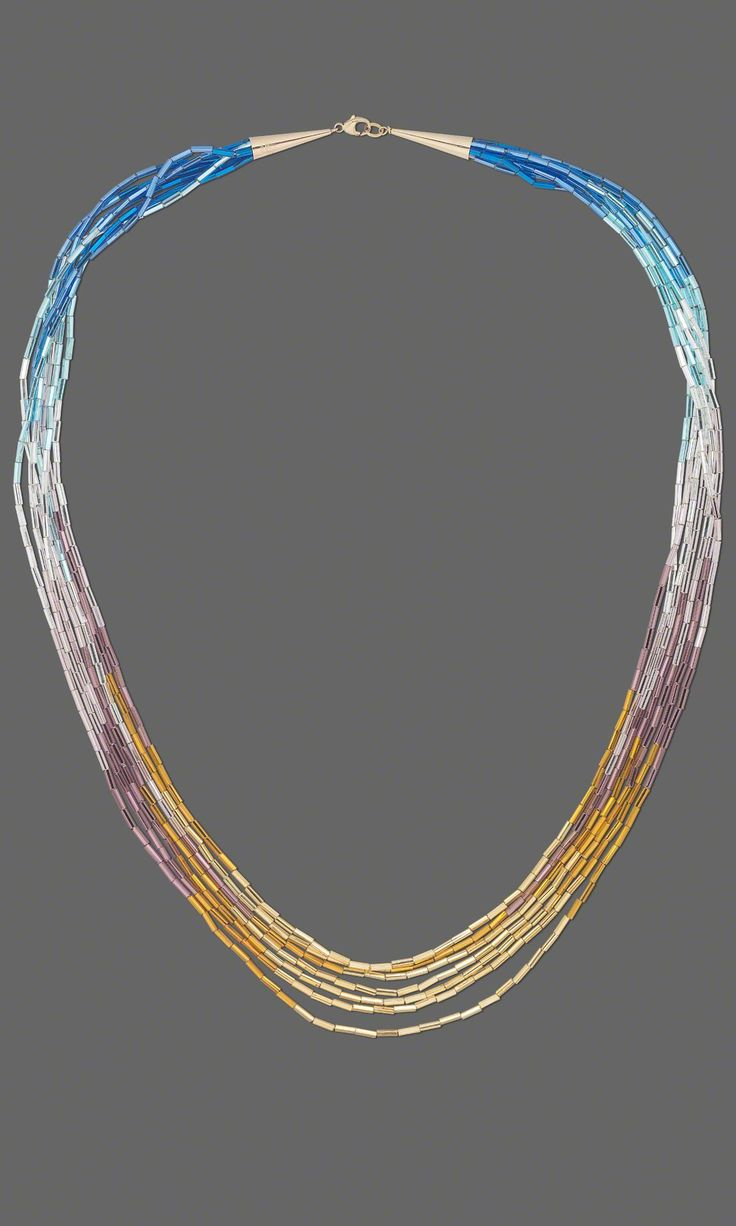 Jewelry Design - Multi-Strand Necklace with Bugle Beads - Fire Mountain Gems and Beads