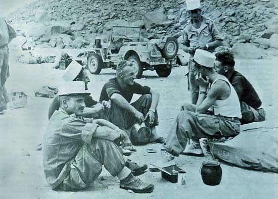 1re CSPL - legionnaires - rest time - November 1957
