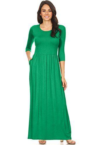 c6797ffd37 Simlu Women s Long Rayon Maxi Dress with Pockets