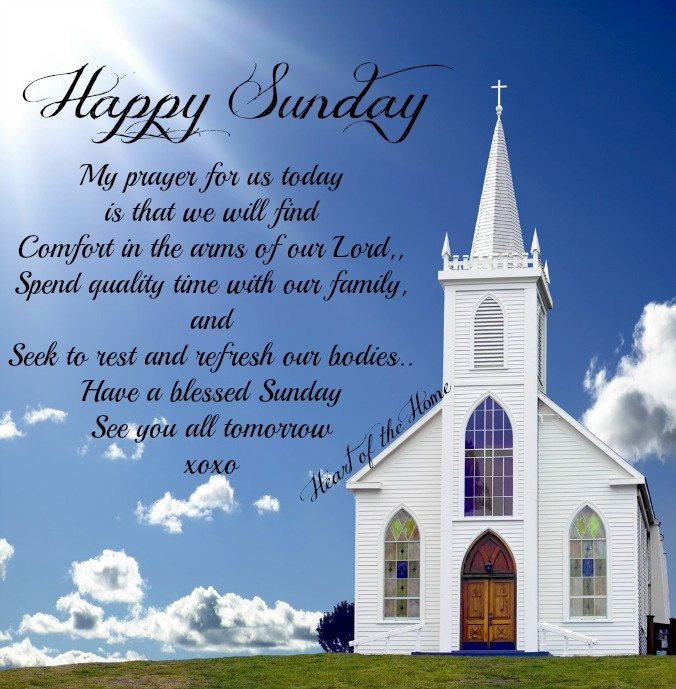 Happy Sunday Everyone from Heart of the Home.
