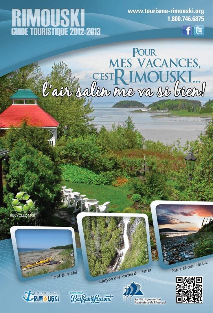 La page couverture du Guide touristique 2012-2013 de Rimouski!  www.tourisme-rimouski.org