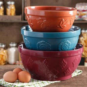 Shop Low Prices on: The Pioneer Woman Cornucopia Mixing Bowl Set, 3-Piece : Kitchen & Dining