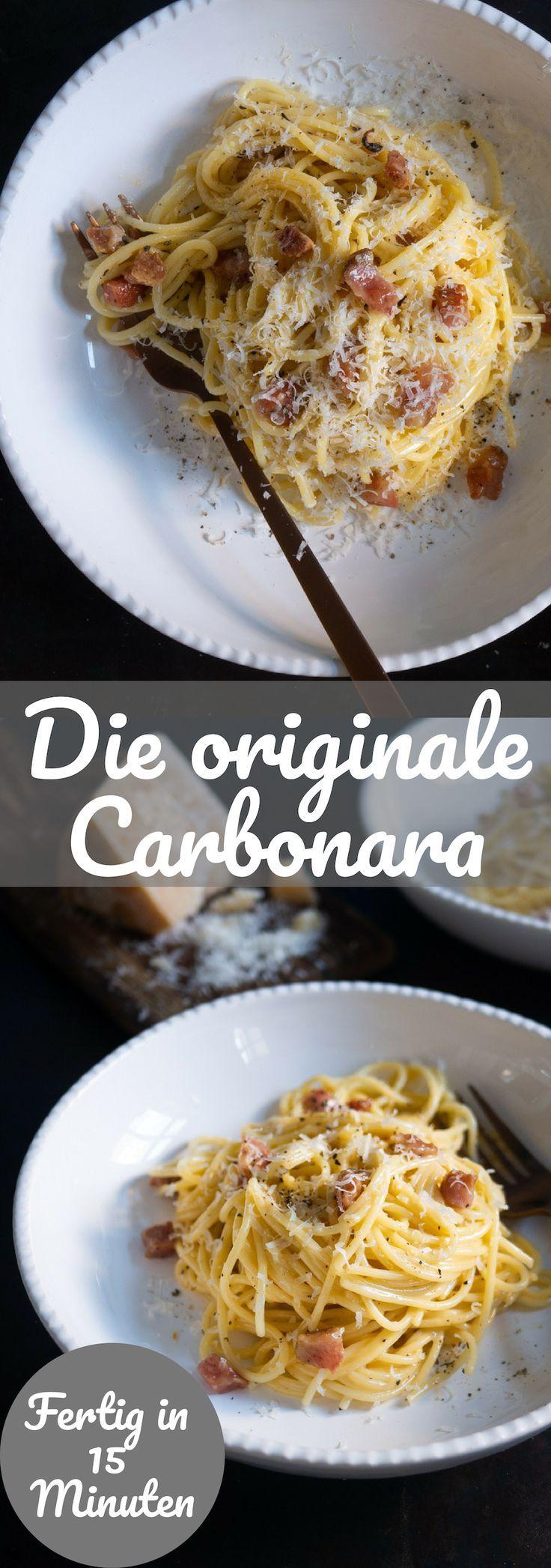 Recipe for classic carbonara   – Rezepte mit Käse