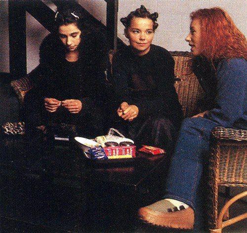 pj harvey, bjork, & tori amos, 1994. (photographer john stoddart)