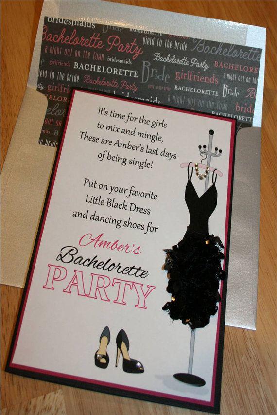 Little Black Dress Bachelorette Party by LopazeCreations on Etsy, $5.00