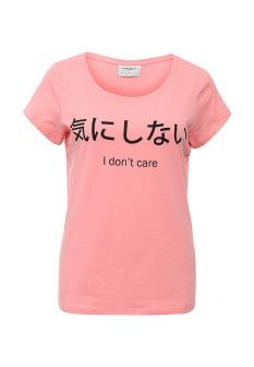 Футболка Vero Moda, цвет: розовый. Артикул: VE389EWHCF08. Женская одежда / Футболки и поло / Футболки с коротким рукавом