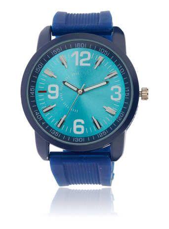 Rubber Metallic Chunky Watch