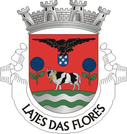 Vila de Lajes das Flores - Arquipélago dos AÇORES - Portugal ---  ESCUDOS DE ARMAS C/ ANIMAIS - RECONTANDO ESTÓRIAS DO DOMÍNIO PÚBLICO - exemplo de Animais na heráldica  - Entretextos - Dilson Lages Monteiro