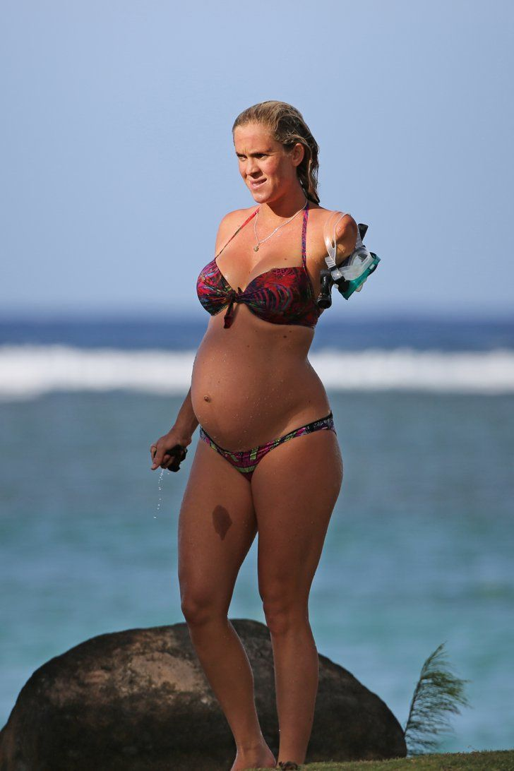 Pin for Later: Bethany Hamilton Shows Off Her Baby Bump During a Family Beach Day