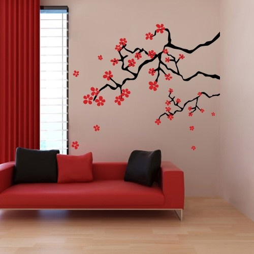 Japanese Spring Cherry Blossom Branches - Wall Decals Stickers  Oh Baby  Pinterest  Cherry Blossom Branches, Cherry Blossoms and Wall Decal Sticker