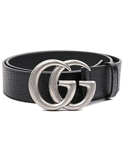 ddd69a968c3 Wiberlux Gucci Men s Silver GG Buckle Slim Pebble Real Leather Belt 100  Black any good