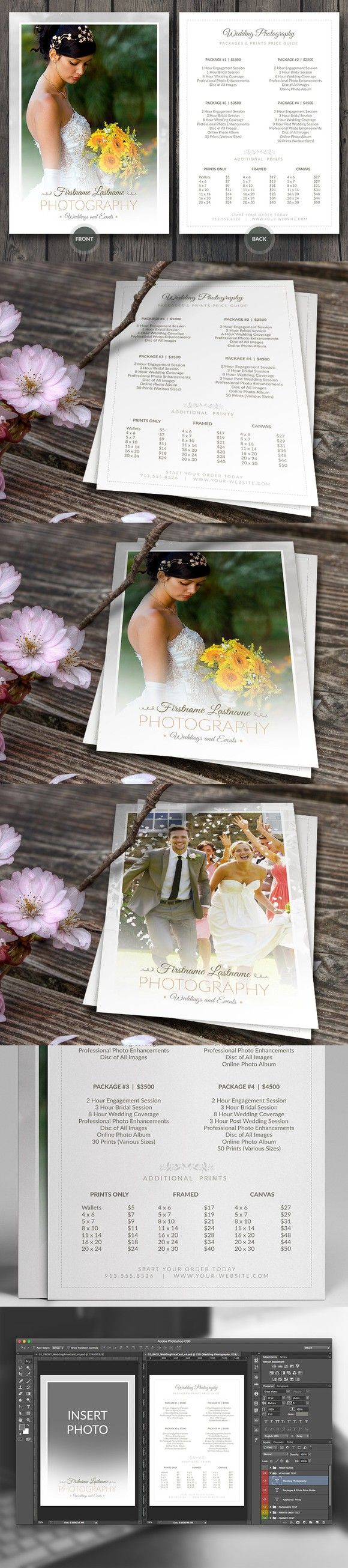 Wedding Photographer Pricing Guide. Stationery Templates