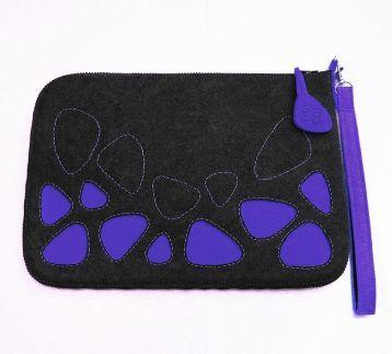 Antrasit ve civit mavi tasarım el çantası-The BAGua-Çantalarda düzen