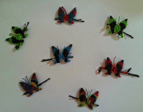 Pinches de Mariposas de Colores