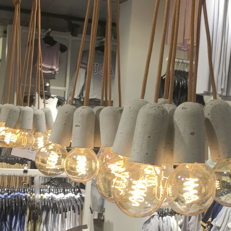 This installation is from BikBok in Gothenburg, we think the NUD Base lights up the shop nicely.