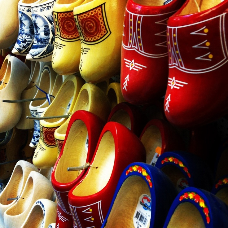 Clogs on sale in the city's Bloemenmarkt #amsterdam #markets