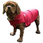 Waterproof Dog Coat, Fleece Lined For Warmth, Chest Protector, Reflective Night Safety Jacket
