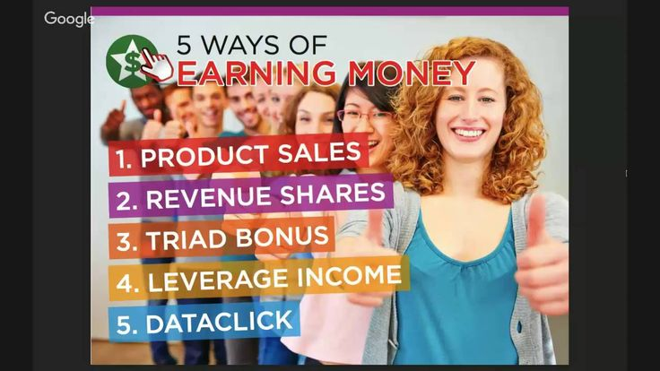 5 WAYS OF EARNING MONEY 1. PRODUCT SALES 2. REVENUE SHARES 3. TRIAD BONUS 4. LEVERAGE INCOME 5. DATA CLICK http://aiyellow.com/advertisebusiness