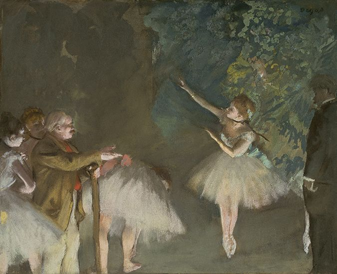 """Rehearsal of the Ballet"" (ca.1876) by Edgar Degas"