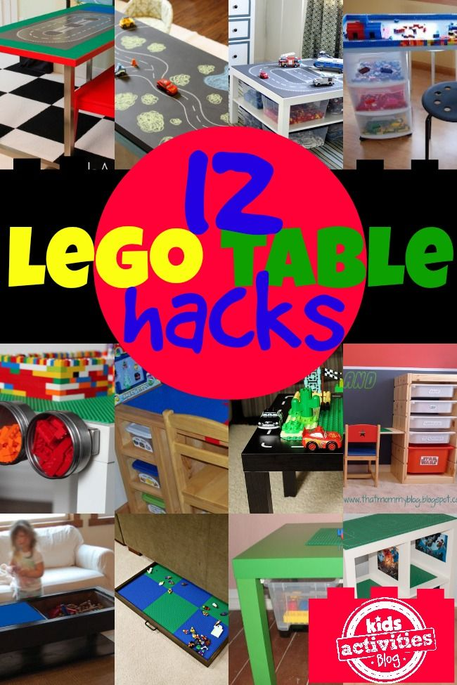 12 Genius LEGO Table Hacks - Kids Activities Blog