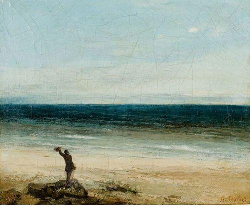 Gustave Courbet - Le Bord de mer à Palavas, 1854 Montpellier, musée Fabre