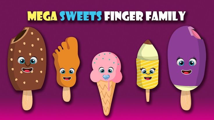Mega Sweets Finger Family, Lollipops, Candies, Ice Cream, Animals