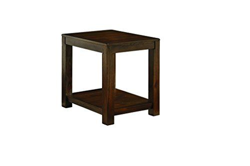 Ashley Furniture Signature Design Grinlyn Rectangular End Table Rustic Brown * You can get more details by clicking on the image.