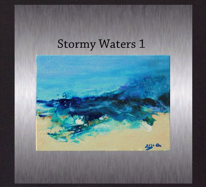 Stormy Waters - Original Abstract Painting. Modern Art. Hand Painted not a print. by ElcoStudio on Etsy